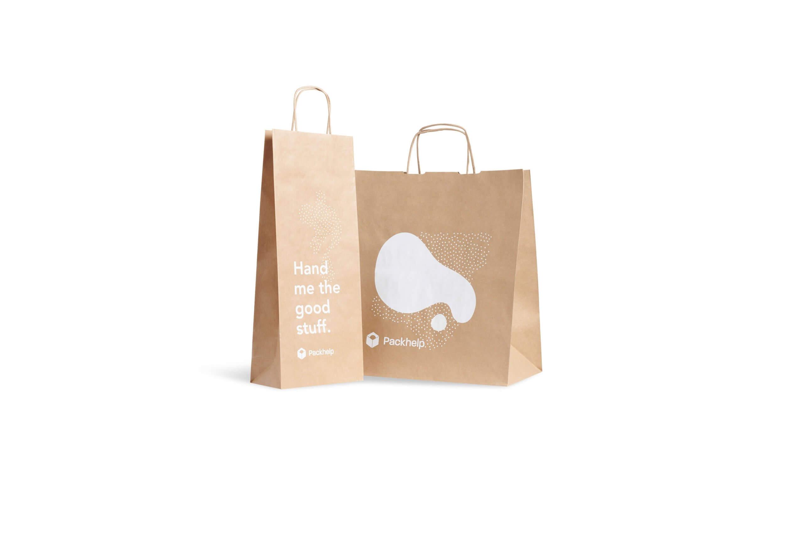 bolsas de papel reciclado para sustituir las bolsas de plástico tradicionales