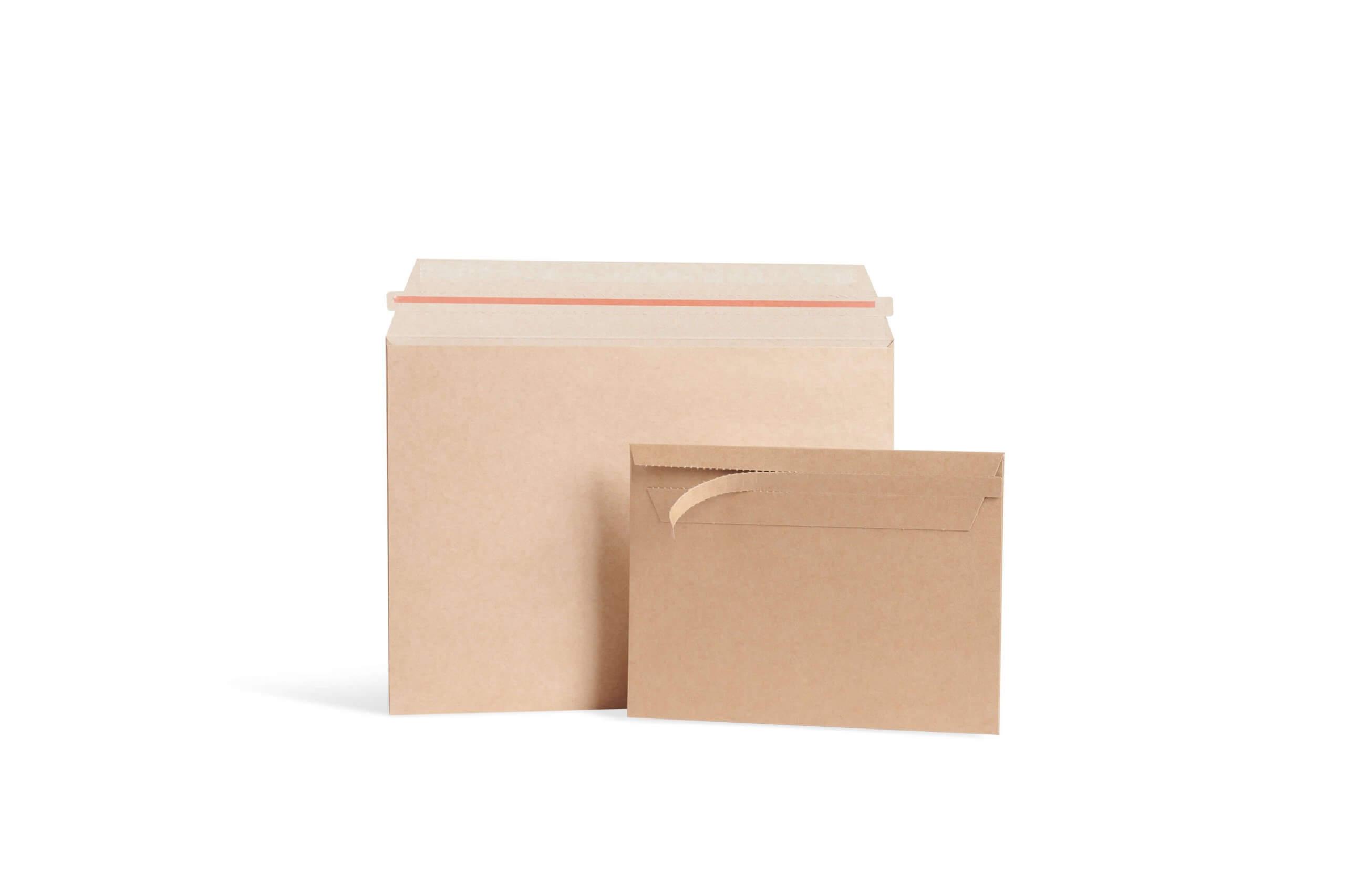 sobres de cartón para sustituir las bolsas de plástico en los comercios