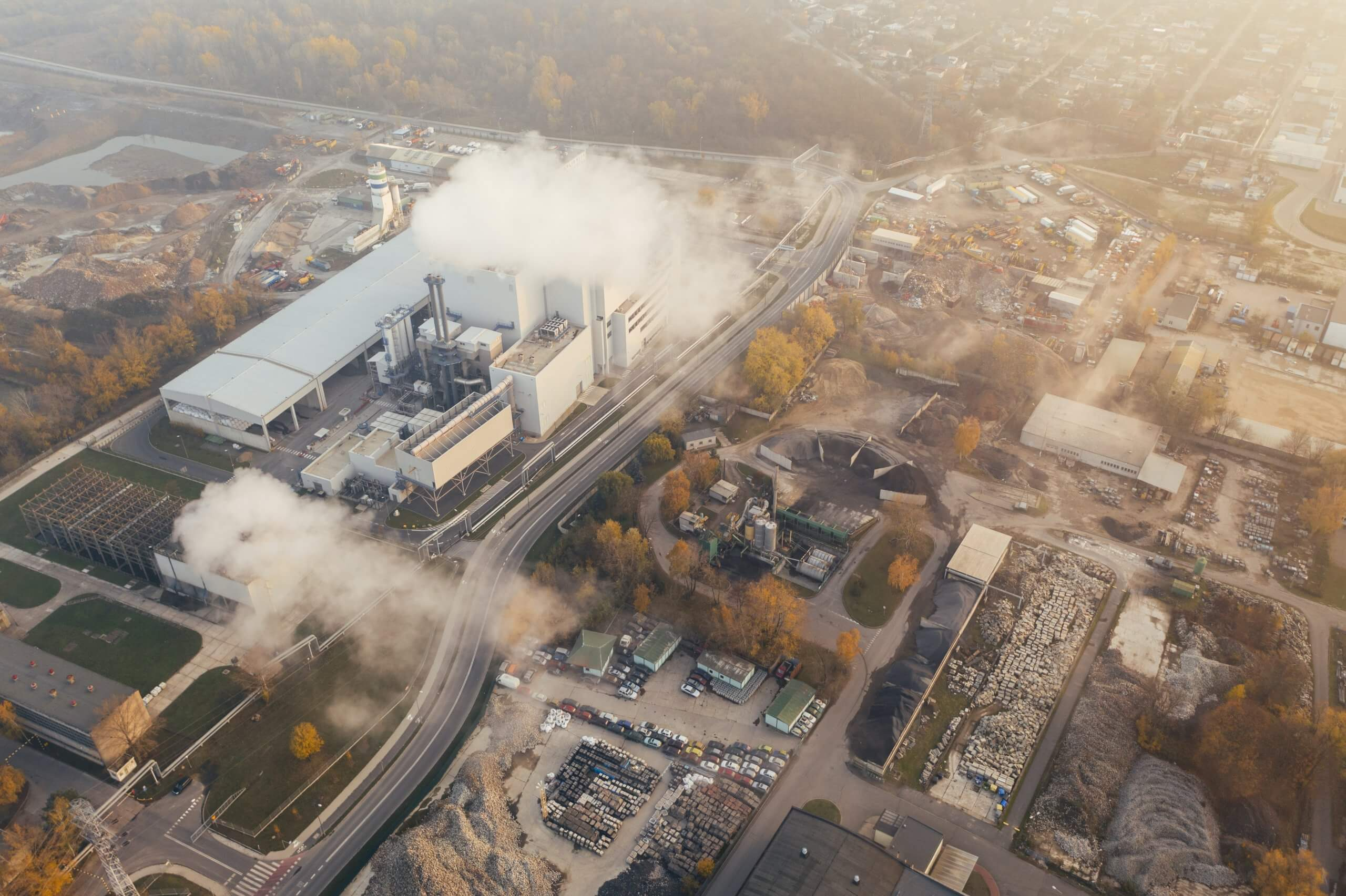 factory emitting pollution