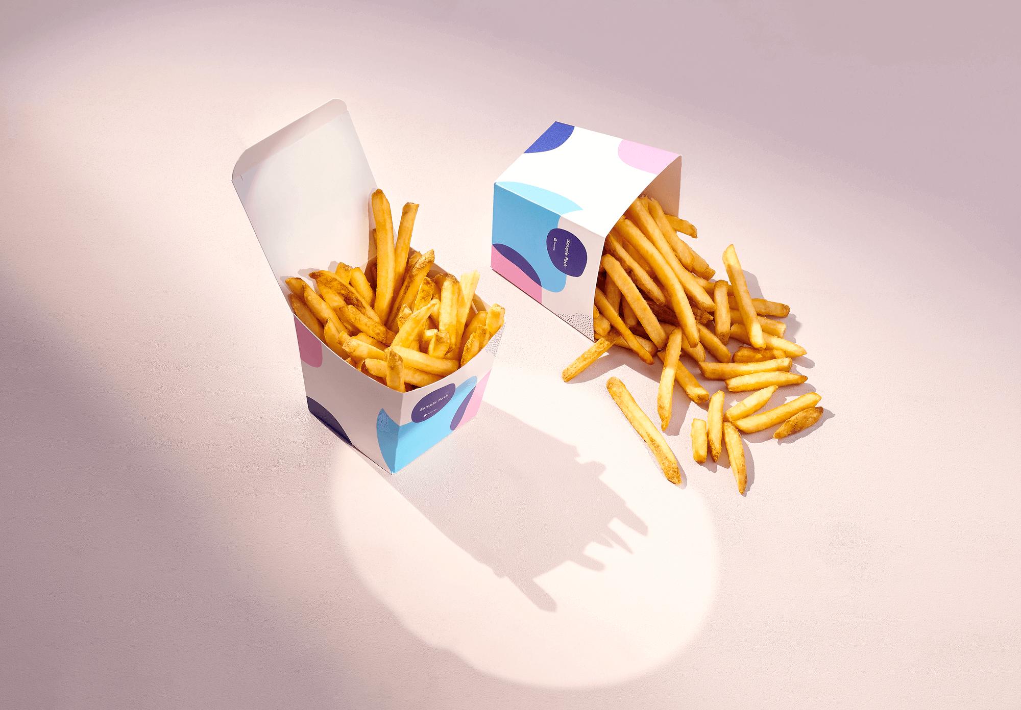 caja para patatas fritas envases take away