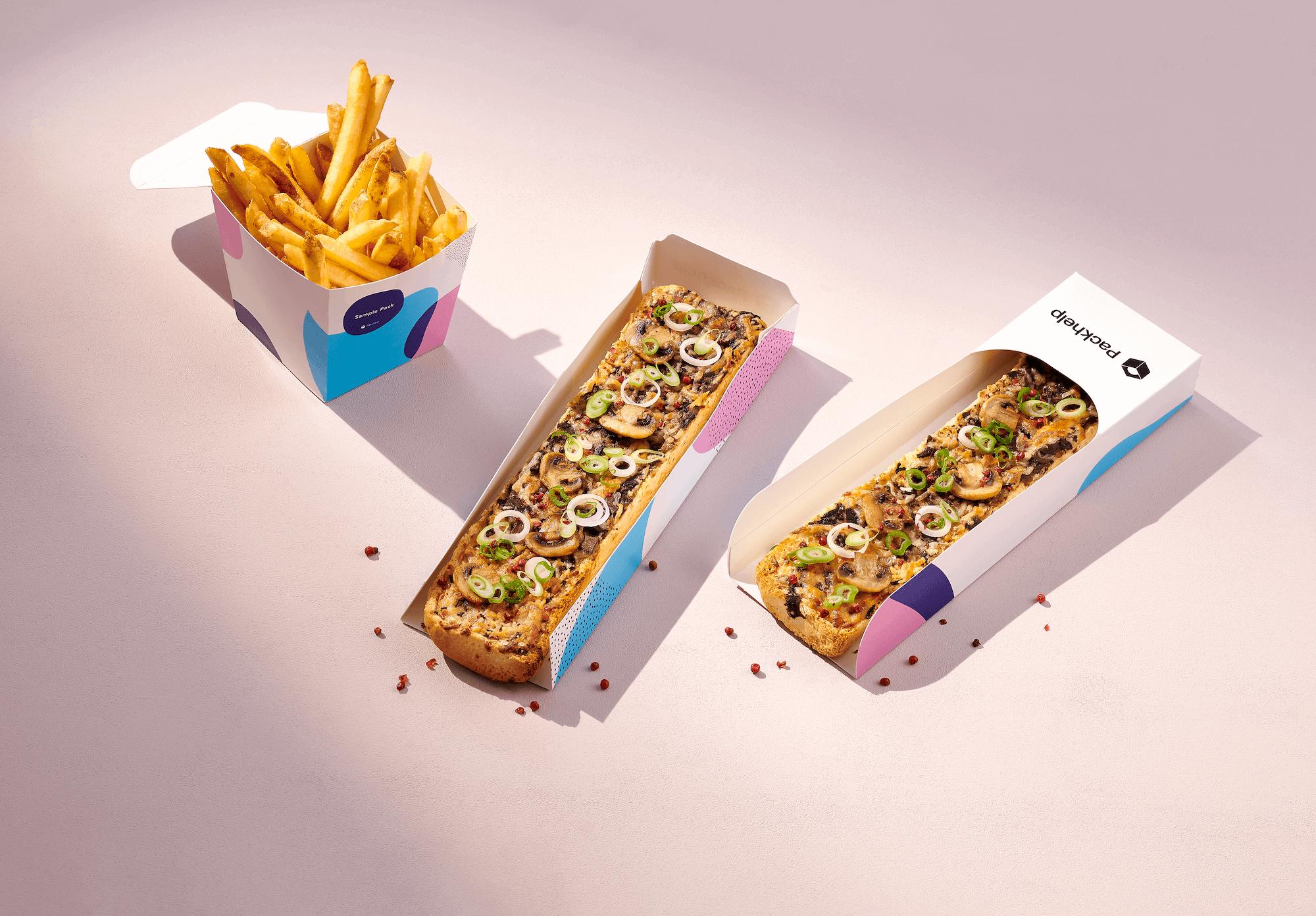 caja para sandwich envase take away