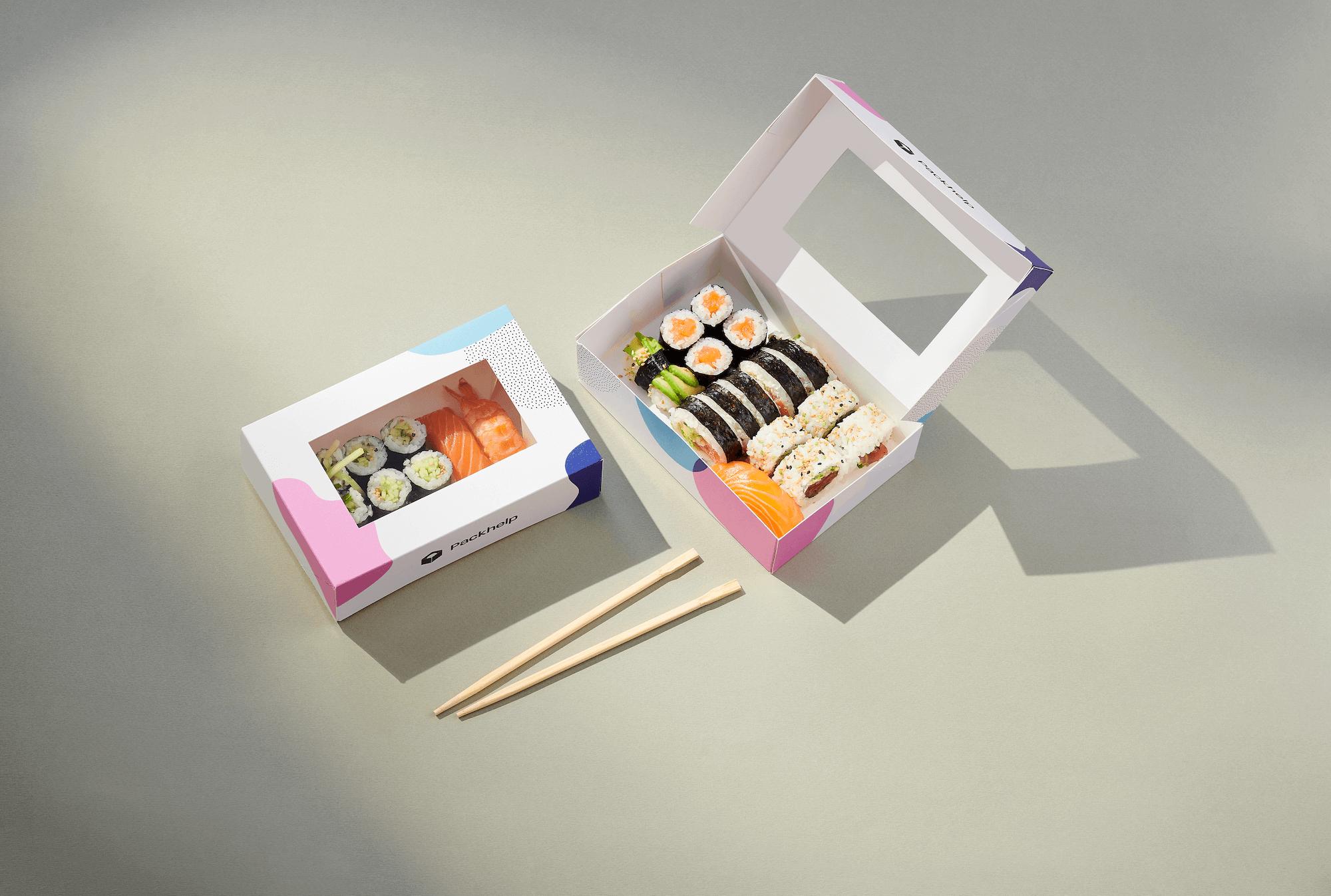 sushi box envase take away