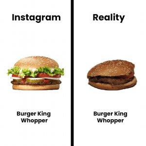 Instagram vs. Reality Food photography