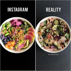 Instagram vs. Reality Essen