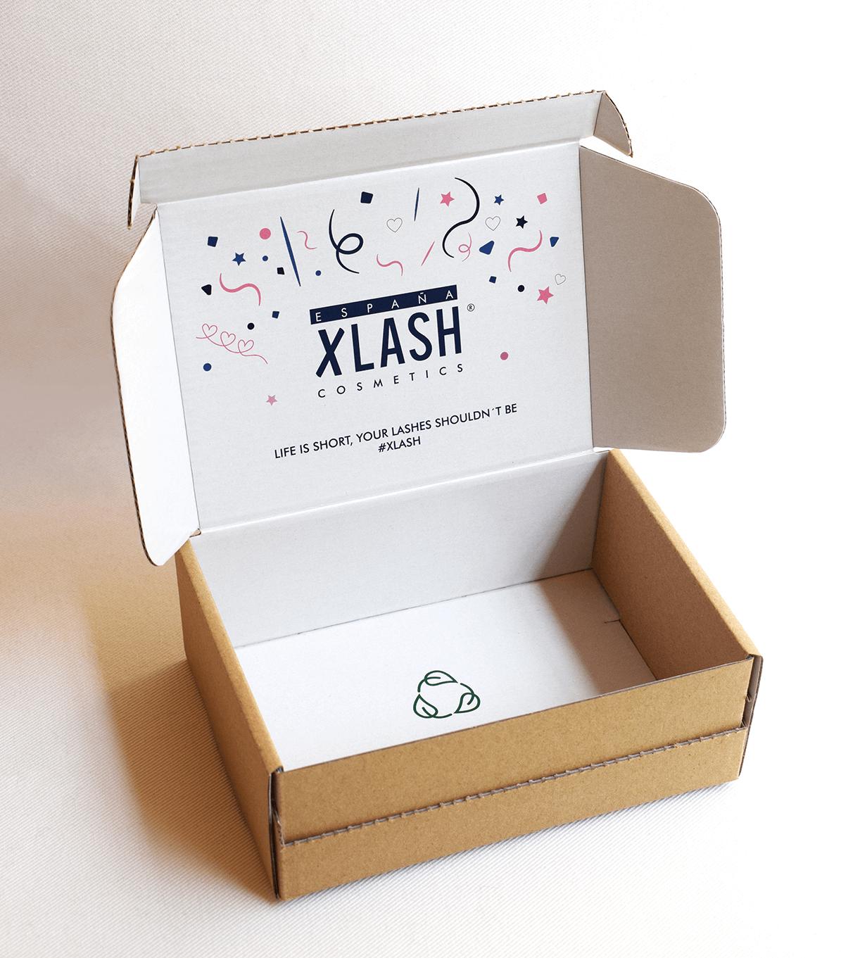 Caja Xlash para enviar paquetes por correo