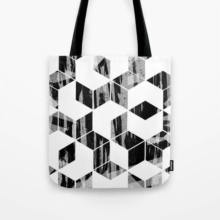 tote bag geometrica