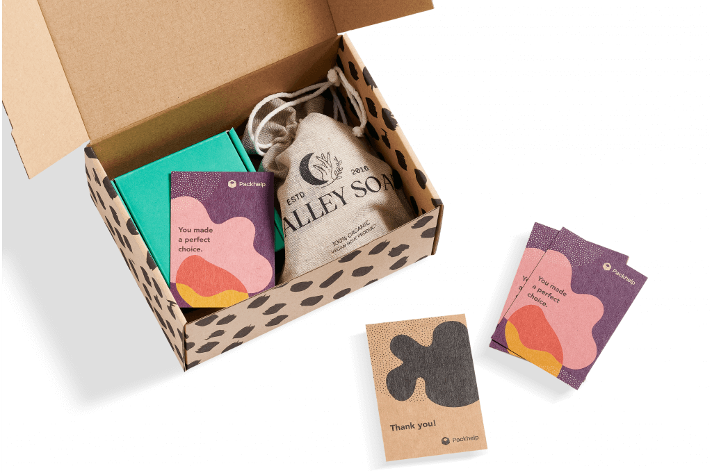 Umweltfreundliche Dankeskarten in Omnichannel Verpackung