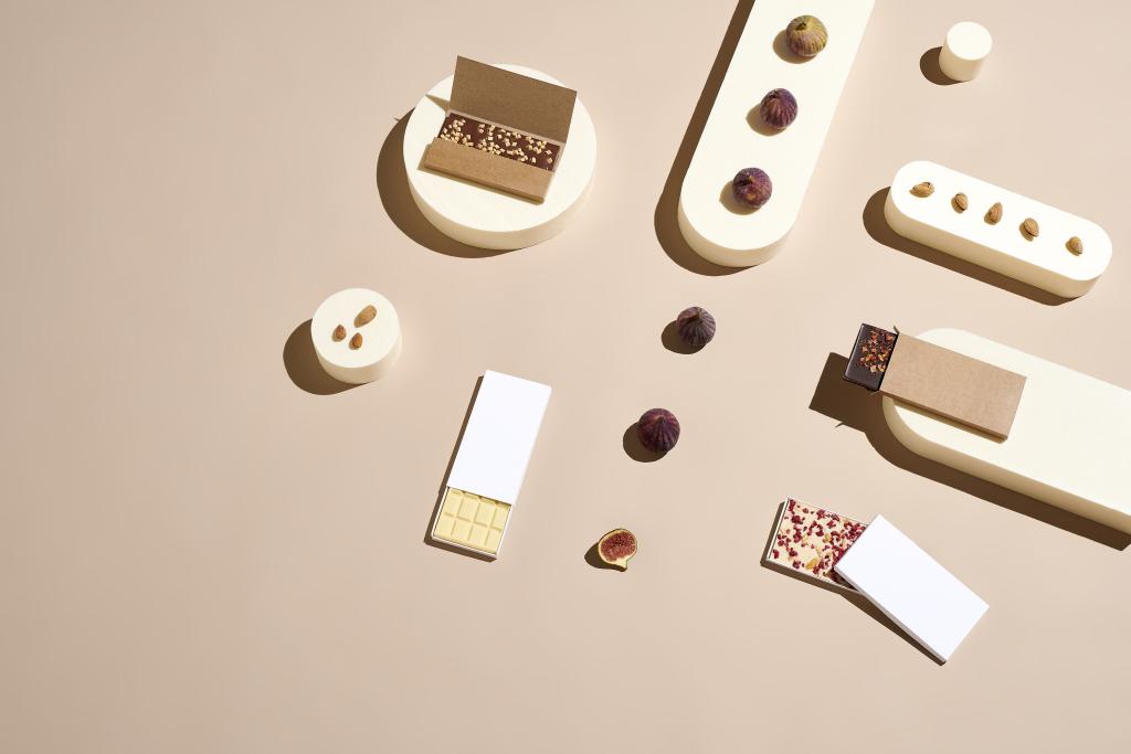 Lebensmittelverpackng für Schokolade mit Schiebemechanismus